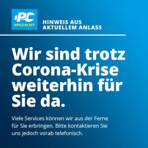 PC Spezialist Corona Krise